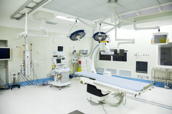 photo of an emergency room that has been cleaned by a medical cleaning services team